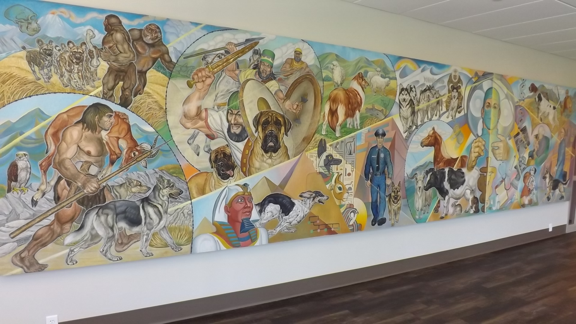 History of our mural central hospital for veterinary for Mural history